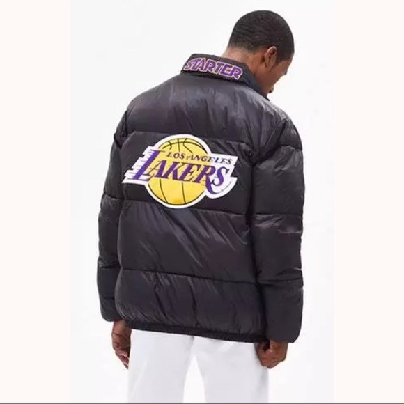 STARTER LOS ANGELES LAKERS Mens Puffer Jacket NWT